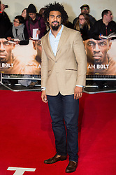 © Licensed to London News Pictures. 28/11/2016. DAVID HAYE attend's the I Am Bolt world film premiere. London, UK. Photo credit: Ray Tang/LNP