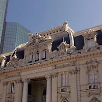 South America, Chile, Santiago. Central Post Office Building on Plaza de Armas in Santiago.
