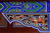 Elephant, Details from the Taoist Bai Long Wang Miao, White Dragon King Temple, Beiyue Hengshan Mountain, Datong, Hunyuan County, Shanxi Province, China