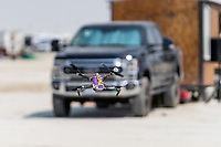 Drone with Stickers - https://Duncan.co/Burning-Man-2021