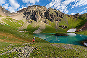 Krissy Moehl out for a training run while out at the hardrock 100 to crew on cheer on her friends. San Juans, Colorado