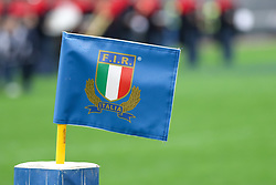 November 24, 2018 - Rome, Rome, Italy - Federazione Italiana Rugby Flag during the Test Match 2018 between Italy and New Zealand at Stadio Olimpico on November 24, 2018 in Rome, Italy. (Credit Image: © Emmanuele Ciancaglini/NurPhoto via ZUMA Press)