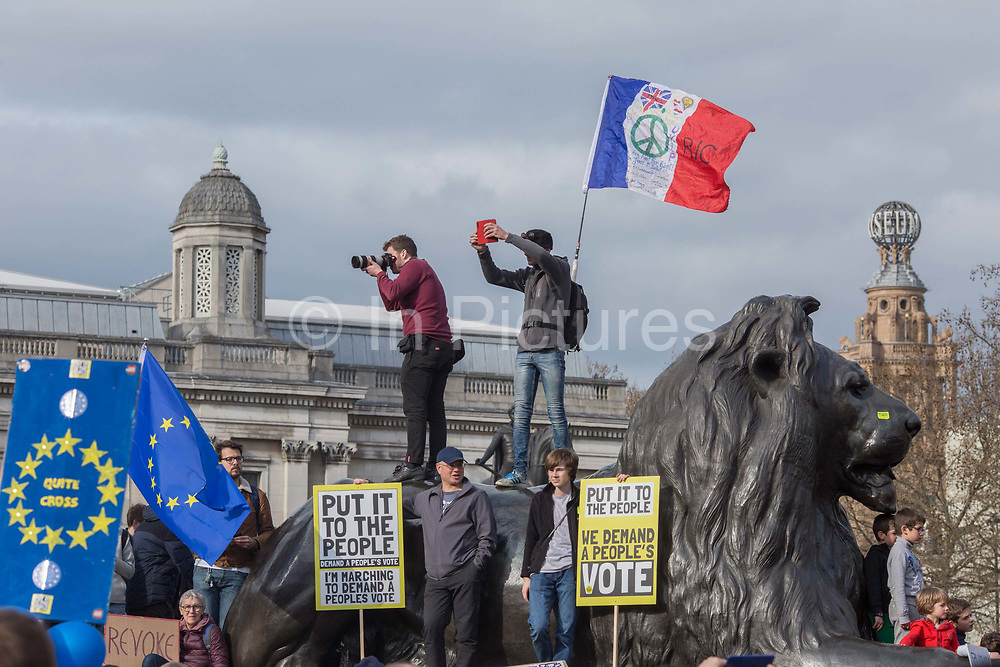 Put It To The People march for a Peoples Vote on 23rd March 2019 in London, United Kingdom. With less than one week until the UK is supposed to be leaving the European Union, the final result still hangs in the balance and protesters gathered in their tens of thousands to make political leaders take notice and to give the British public a vote on the final Brexit deal.