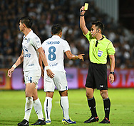 NONTHABURI, THAILAND - JULY 09: Suchao of Buriram United reaction after receiving a yellow card during the second half of the Thai League: SCG Muangthong United vs Buriram United at SCG Stadium, Nonthaburi, Thailand on July 09, 2017.<br /> .<br /> .<br /> .<br /> (Photo by: Naratip Golf Srisupab/SEALs Sports Images)<br /> .<br /> Any image use must include a mandatory credit line adjacent to the content which should read: Naratip Golf Srisupab/SEALs Sports Images