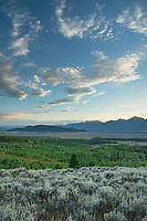 Clouds in the evening sky above the Teton Range, Grand Teton National Park Wyoming
