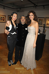 Left to right, CYNTHIA WOO,  TIKKA KAPURTHALA and TASHA DE VASCONCELOS at Andy & Patti Wong's Chinese new Year party held at County Hall and Dali Universe, London on 26th January 2008.<br />
