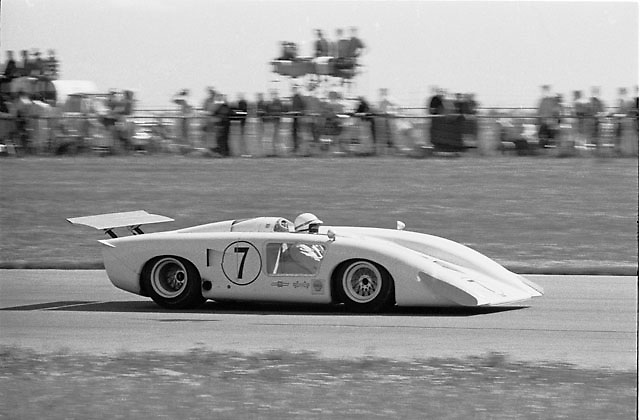 John Surtees in Chaparral 2H at 1969 Edmonton Can-Am.