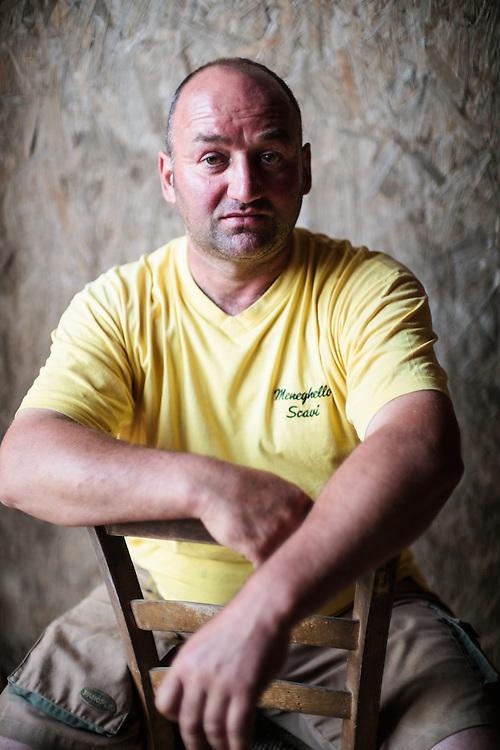 11 MAY 2012 - Vigonza (PD) - Roberto Meneghello, imprenditore in difficoltà per la crisi economica