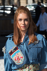 Marina Ruy Barbosa attending the Miu Miu's Spring-Summer 2016/2017 Ready-To-Wear collection show in Paris, France, on October 5, 2016. Photo by Nicolas Genin/ABACAPRESS.COM