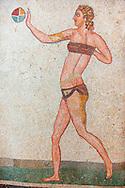 The Bikini Girls. Ancient Roman mosaics at the Villa Romana del Casale, Sicily, Italy Pictures, Photos, Images & fotos