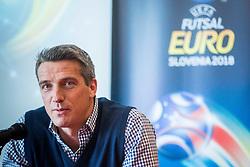 Milenko Acimovic during Press conference of EURO Futsal 2018 in Austria Trend Hotel, Ljubljana, Slovenia. Photo by Ziga Zupan / Sportida