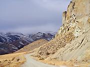 Dirt road leading to McKim Creek above the Salmon River, Idaho