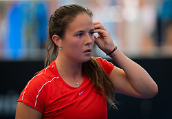 December 31, 2018 - Brisbane, AUSTRALIA - Daria Kasatkina of Russia in action during her first-round match at the 2019 Brisbane International WTA Premier tennis tournament (Credit Image: © AFP7 via ZUMA Wire)