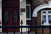 © Licensed to London News Pictures. 07/04/2013. London, UK The front entrance tot he embassy. The North Korean Embassy in Ealing in West London today, 7th April 2013. The Embassy is based in a 1920's detached house in a residential area. Photo credit : Stephen Simpson/LNP