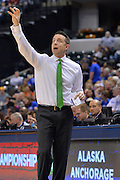 April 4, 2016; Indianapolis, Ind.; Ryan McCarthy calls out a play in the NCAA Division II Women's Basketball National Championship game at Bankers Life Fieldhouse between UAA and Lubbock Christian. The Seawolves lost to the Lady Chaps 78-73.
