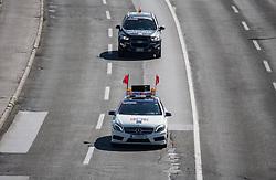 First car during 156km race at 36th Marathon Franja BTC City 2017, on June 11, 2016 in Dolgi most, Ljubljana, Slovenia. Photo by Vid Ponikvar / Sportida