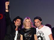 EDISON POP AWARDS 2010 in  het World Trade Center, Rotterdam <br /> <br /> op de foto:  Princes Maxima met  Dinand Woesthoff , Dennis van Leeuwen