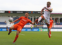Blackpool's Armand Gnanduillet chases down Luton Town's Matty Pearson<br /> <br /> Photographer David Shipman/CameraSport<br /> <br /> The EFL Sky Bet League One - Luton Town v Blackpool - Saturday 6th April 2019 - Kenilworth Road - Luton<br /> <br /> World Copyright © 2019 CameraSport. All rights reserved. 43 Linden Ave. Countesthorpe. Leicester. England. LE8 5PG - Tel: +44 (0) 116 277 4147 - admin@camerasport.com - www.camerasport.com