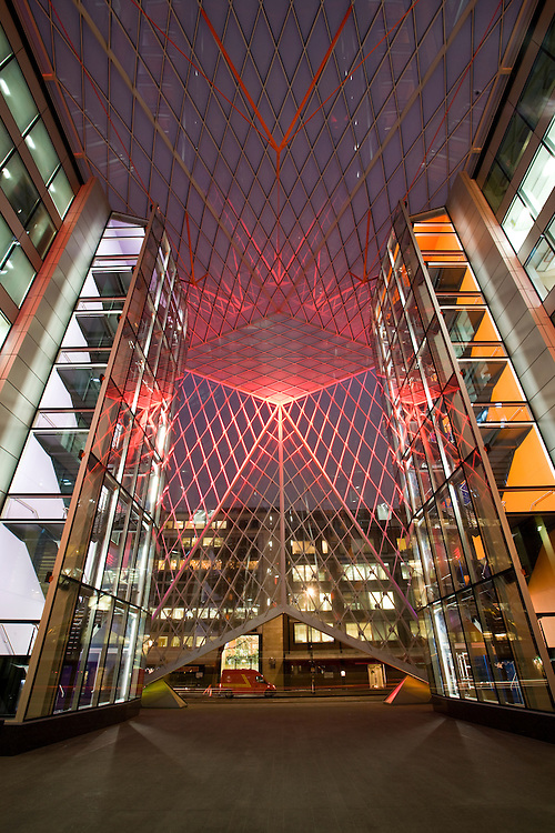 andy spain architectural photography make architects baker street colour lights