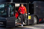 Brentford defender Henrik Dalsgaard (22) arrives before the EFL Sky Bet Championship match between Brentford and Middlesbrough at Brentford Community Stadium, Brentford, England on 7 November 2020.