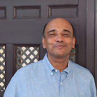 Kwame Anthony Appiah, British-born Ghanaian-American philosopher, cultural theorist, and novelist<br /> Le Conversazioni, Capri, Italy, 4 July 2015<br /> <br /> Photograph by Steve Bisgrove/Writer Pictures<br /> <br /> WORLD RIGHTS