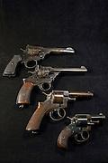Webley Revolver Comparison - Top to bottom, Mark VI, Fosbery .38, RIC, Bulldog
