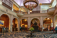 Interior lobby at the Fairmont Chateau in Banff National Park, Alberta, Canada
