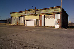 Abandoned Auto Part Store on the corner of S. Main and Front Streets in Galena, KS along old Route 66