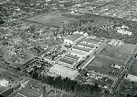 1922 Aerial of Clune Studios at Melrose Ave. & Bronson Ave.