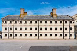 Exterior view of hall at Peterhead Prison Museum in Peterhead, Aberdeenshire, Scotland, UK