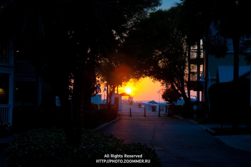 Sunset on Mallory Square Key West, Florida