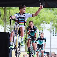 Peter Sagan ( Bora-Hansgrohe ) during the Tour de France 2018, Teams presentation on July 5, 2018 in La Roche-sur-Yon, France - Photo George Deswijzen / Pro Shots / ProSportsImages / DPPI