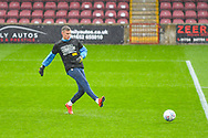 Ben Wilson of Bradford City (13) warming up during the EFL Sky Bet League 1 match between Scunthorpe United and Bradford City at Glanford Park, Scunthorpe, England on 27 April 2019.
