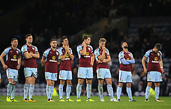 Burnley players show their dejection after a penalty shootout in the Carabao Cup, third round match at Turf Moor, Burnley.