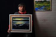 Nils Peder A. Gaup, reindeer herdsman, landscape painter and gifted singer of traditional yoiks.