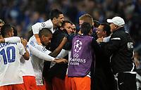 Fotball<br /> Tyskland<br /> 03.10.2012<br /> Foto: Witters/Digitalsport<br /> NORWAY ONLY<br /> <br /> 2:2 Jubel Souleymane Camara (Montpellier)<br /> Fussball Champions League, Gruppenphase, FC Schalke 04 - HSC Montpellier 2:2