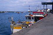 AE2KRB Boats and quayside Wells - next- the -sea, Norfolk, England
