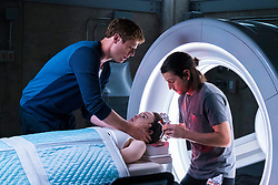 Ray (Diego Luna) intubates Courtney (Ellen Page); Jamie (James Norton) assists