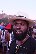 August 22, 2015- Brooklyn, NY-United States:  Artist Derrick Adams attends the 2015 AFROPUNK Festival on August 22, 2015 held at Commodore Barry Park in Brooklyn, New York City.  AFROPUNK is an influential community of young, gifted people of all backgrounds who speak through music, art, film, comedy, fashion and more. Originating with the 2003 documentary that highlighted a Black presence in the American punk scene, it is a platform for the alternative and experimental.(Terrence Jennings/terrencejennings.com)