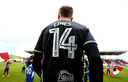 Chris Lines of Bristol Rovers walks out at Northampton Town to make his 300th appearance - Mandatory by-line: Robbie Stephenson/JMP - 07/10/2017 - FOOTBALL - Sixfields Stadium - Northampton, England - Northampton Town v Bristol Rovers - Sky Bet League One