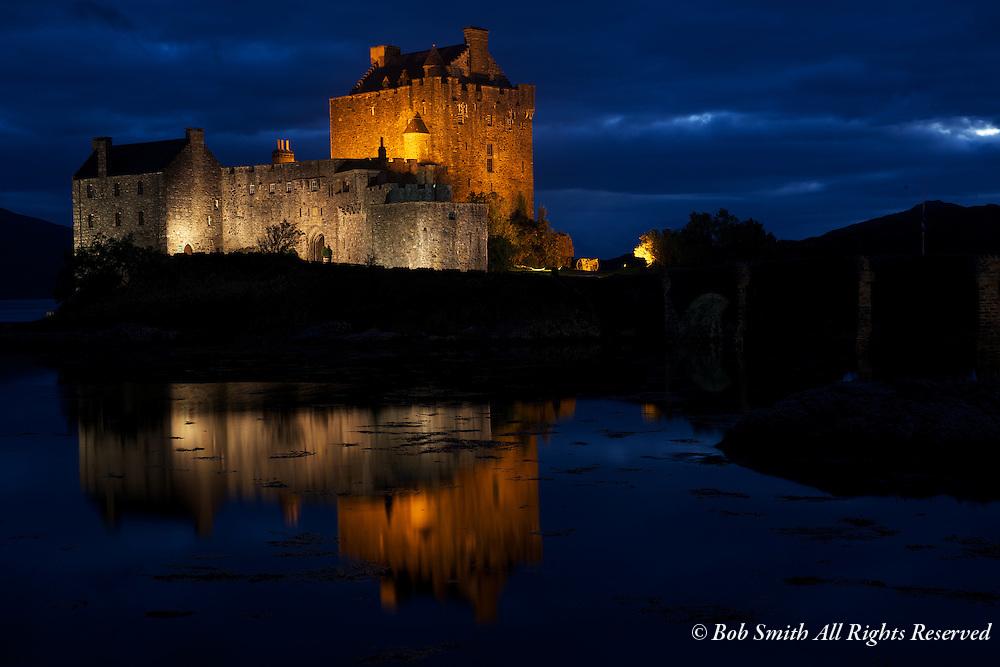Scottish castle near Loch Ness and the island of Skye