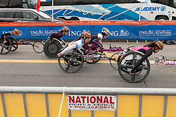 ING New York City Marathon: wheelchair athletes at start line