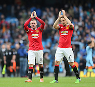 Manchester United's Wayne Rooney applauds the fans at the final whistle<br /> <br /> - Barclays Premier League - Manchester City vs Manchester Utd - Etihad Stadium - Manchester - England - 2nd November 2014  - Picture David Klein/Sportimage