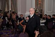 SIR PETER BLAKE, Liberatum 10th Anniversary dinner in honour of Sir Peter Blake. Hosted by Pable Ganguli and Ella Krasner. The Corinthia Hotel, Whitehall. London. 23 November 2011.