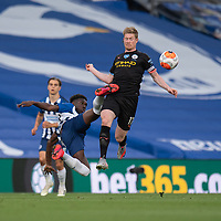 Brighton & Hove Albion's Yves Bissouma (left) battles with Manchester City's Yves Bissouma <br /> <br /> Photographer David Horton/CameraSport<br /> <br /> The Premier League - Brighton & Hove Albion v Manchester City - Saturday 11th July 2020 - The Amex Stadium - Brighton<br /> <br /> World Copyright © 2020 CameraSport. All rights reserved. 43 Linden Ave. Countesthorpe. Leicester. England. LE8 5PG - Tel: +44 (0) 116 277 4147 - admin@camerasport.com - www.camerasport.com