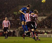 Photo: Jed Wee.<br /> Sunderland v Middlesbrough. Barclays Premiership. 31/01/2006.<br /> <br /> Middlesbrough's Emanuel Pogatetz (L) risest highest to score the opening goal.