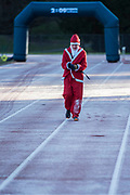 The run started on a very frosty track - 2000 Santas of all ages take part in the annual Santa Run in Battersea Park to support Noah's Ark Children's Hospice.