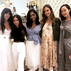 """Jessica Alba releases a photo on Instagram with the following caption: """"Loved celebrating the launch of @honest_beauty \u2728new\u2728 #youngerandclearer skin care line! Too old for breakouts -too young for wrinkles? We got you girl! \u2764\ufe0f love all the shades of my homegirls represented here- #FutureIsFemale #GirlPower #HonestBeauty #Diversity #WeAreAmerica \ud83d\udc4a\ud83c\udffd"""". Photo Credit: Instagram *** No USA Distribution *** For Editorial Use Only *** Not to be Published in Books or Photo Books ***  Please note: Fees charged by the agency are for the agency's services only, and do not, nor are they intended to, convey to the user any ownership of Copyright or License in the material. The agency does not claim any ownership including but not limited to Copyright or License in the attached material. By publishing this material you expressly agree to indemnify and to hold the agency and its directors, shareholders and employees harmless from any loss, claims, damages, demands, expenses (including legal fees), or any causes of action or allegation against the agency arising out of or connected in any way with publication of the material."""