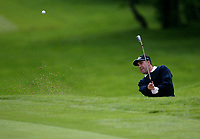 Photograph: Scott Heavey<br />Volvo PGA Championship At Wentworth Club. 23/05/2003.<br />Jose Maria Olazabal chips in from the bunker after a terrible hole on the 3rd.