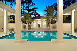 House rear exterior Deck patio Verandah Porch Pool pool house
